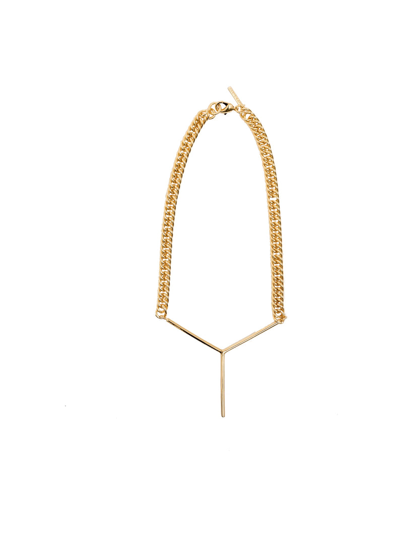 Gold Maxi Y Necklace