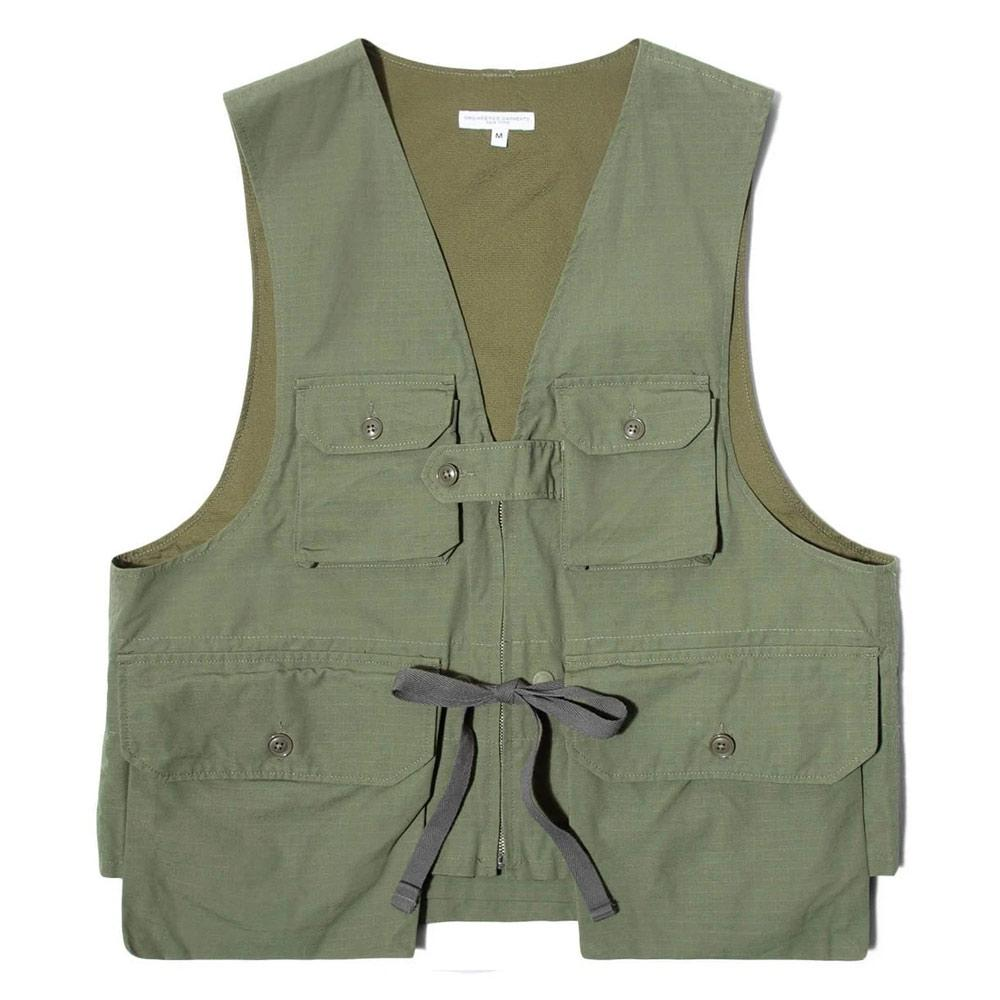Green Pocketed Game Vest