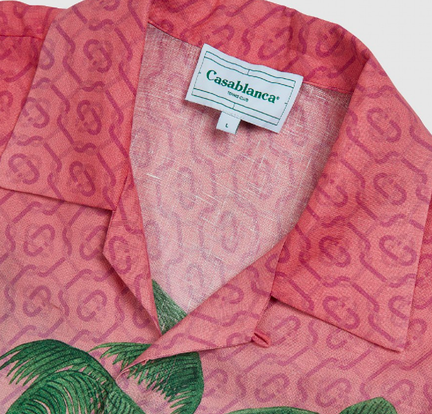 Rose A Maui Silk Short Sleeve Printed Linen Shirt