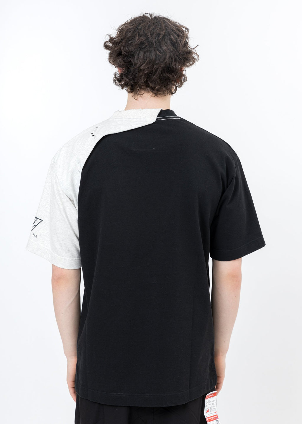 Black Partly Double T-Shirt