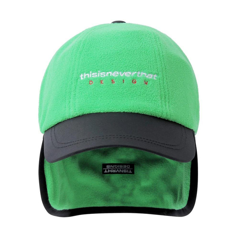 Green DSN-Logo Fleece Earflap Cap