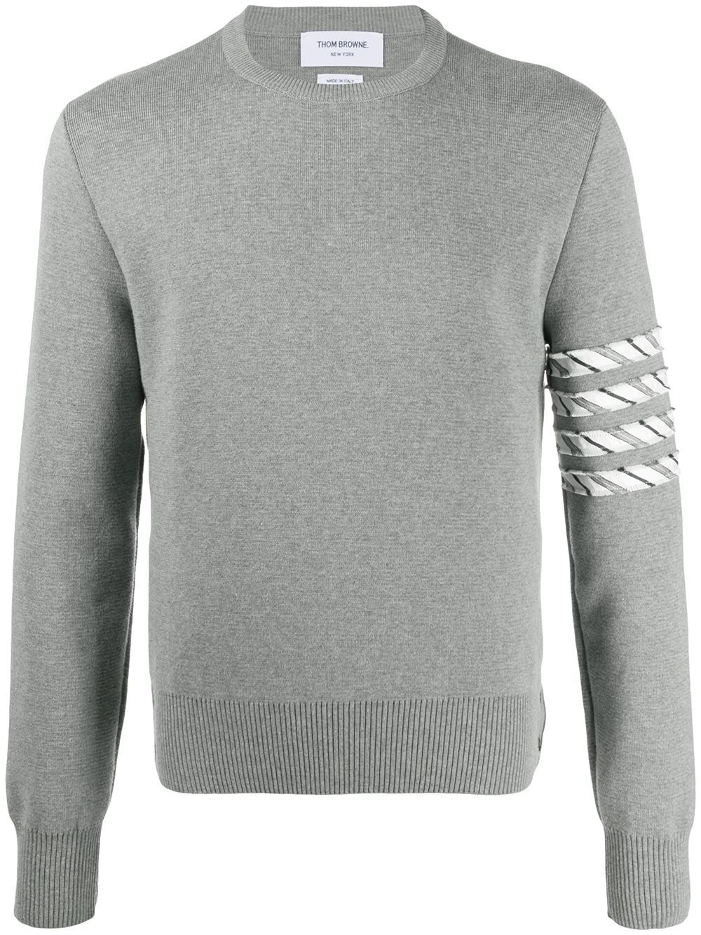 Grey Milano Stitch Crew Neck Pullover