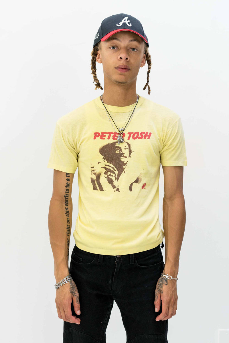 Yellow 1979 Peter Tosh Bush Doctor Tour T-Shirt (S/M)