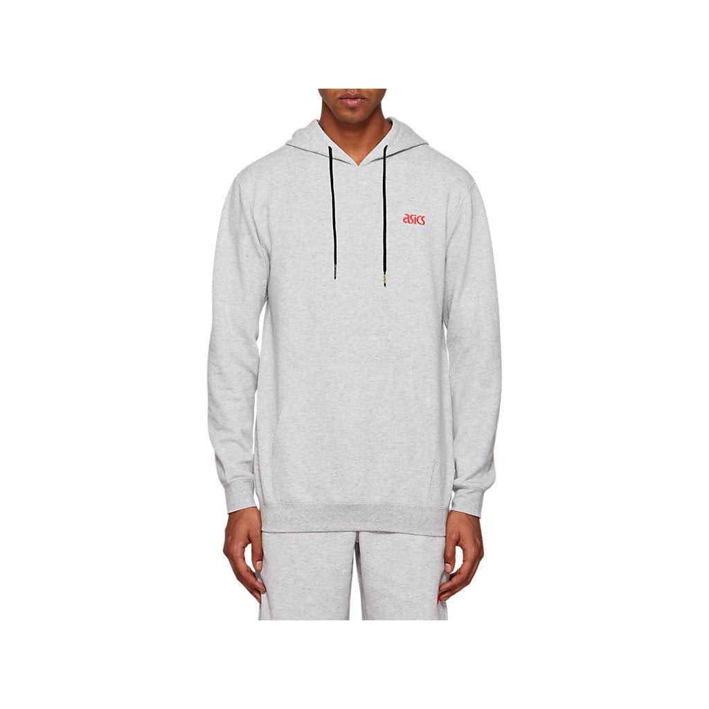 Asics Tiger OP Sweat PO Hoodie Mid Grey Heather Men 2191A161-020