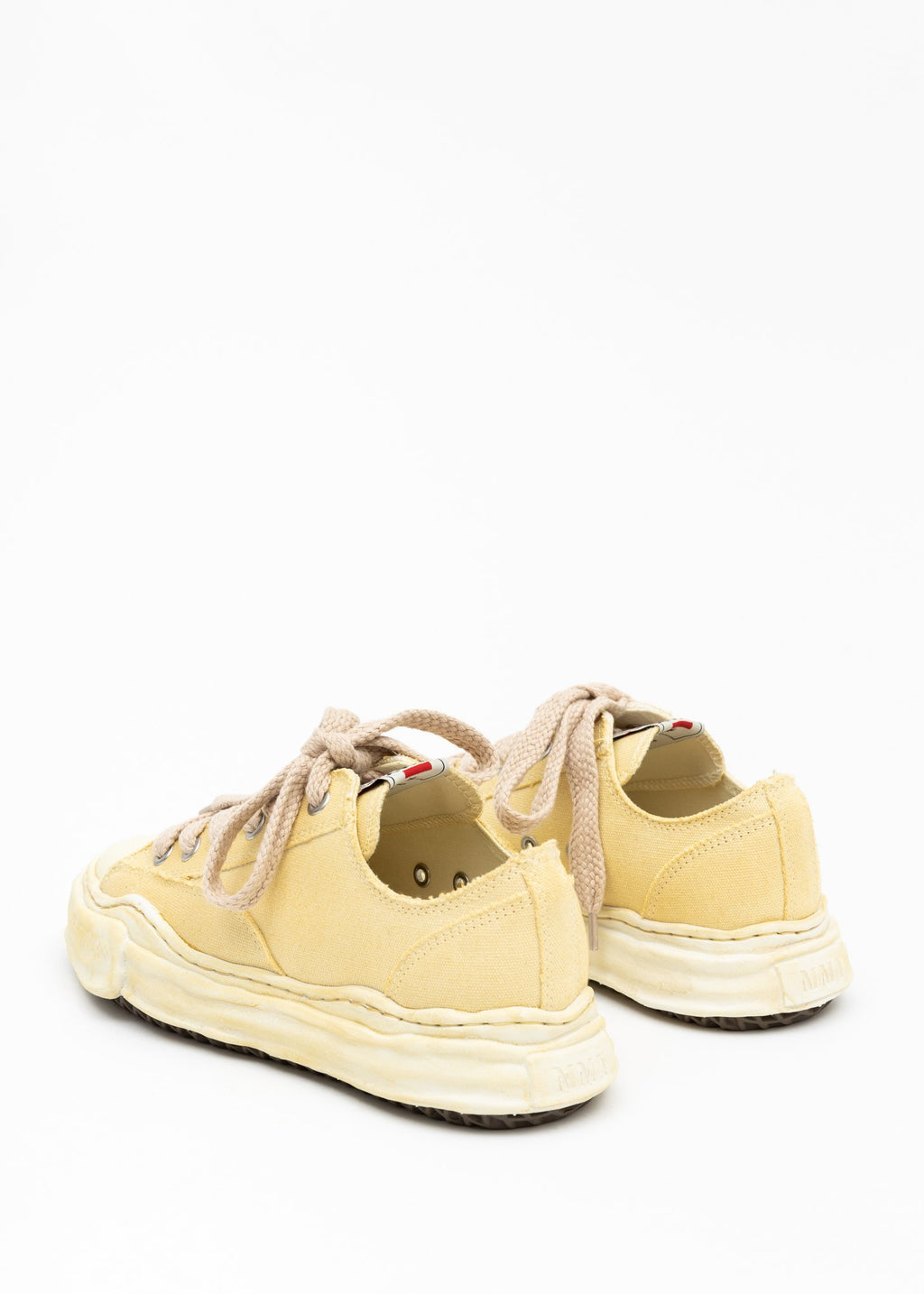 Beige Overdyed Canvas Sneakers
