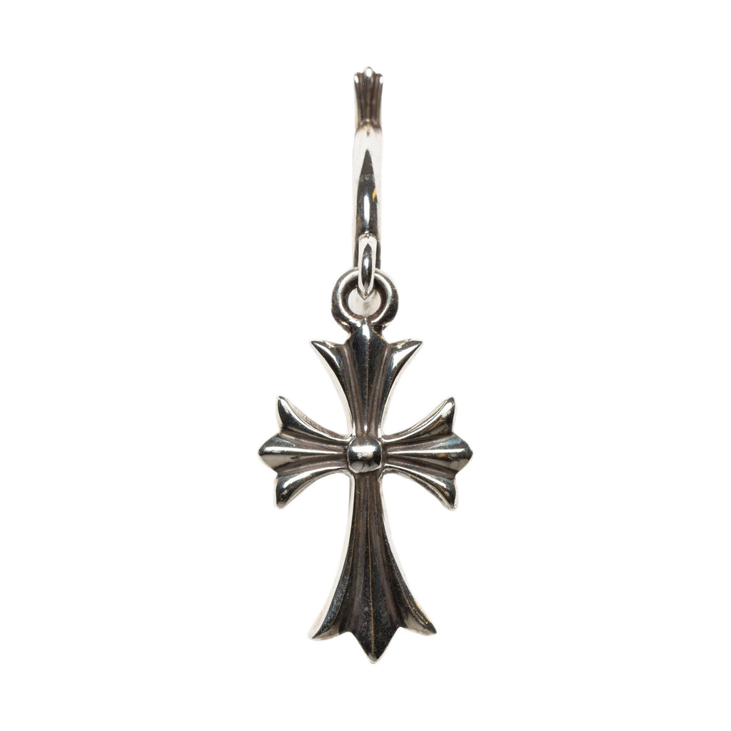 Silver Tiny CH Cross Earring