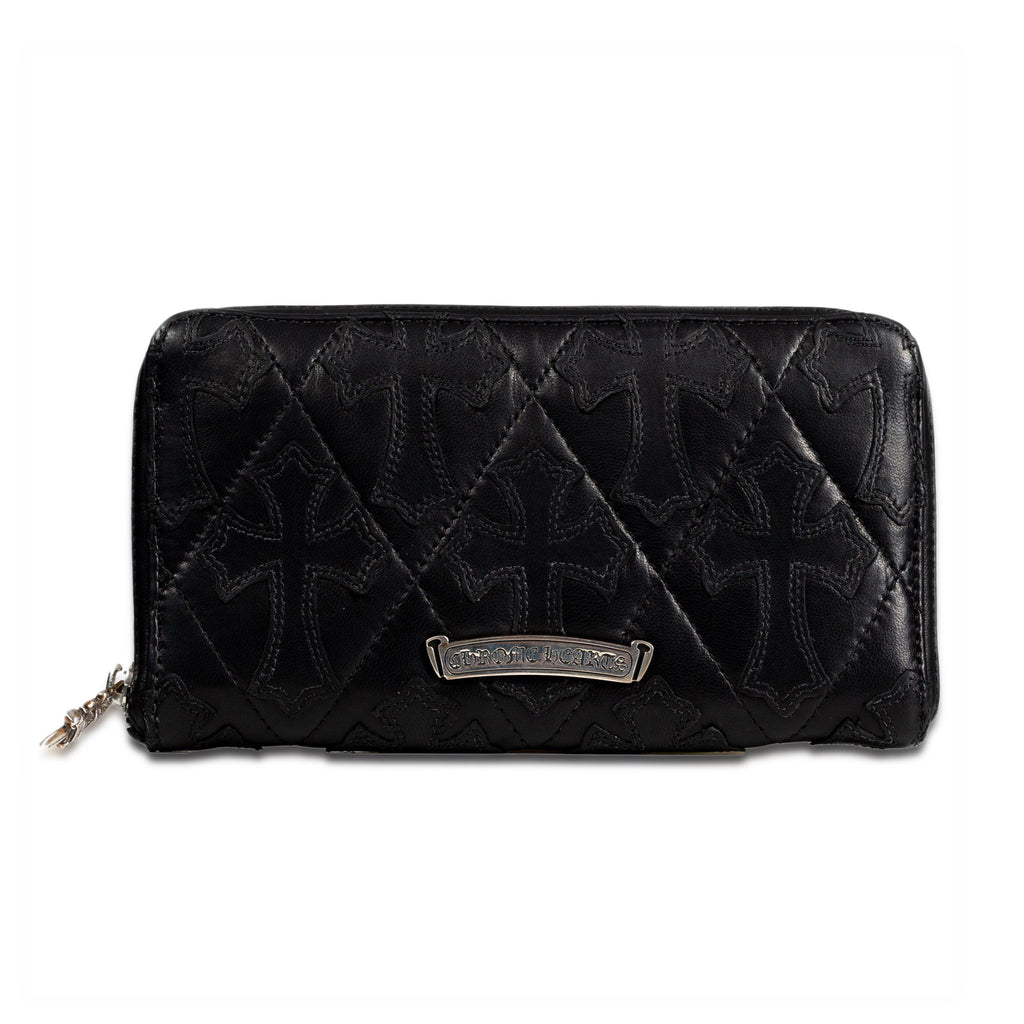 Black CH Cross Long Wallet