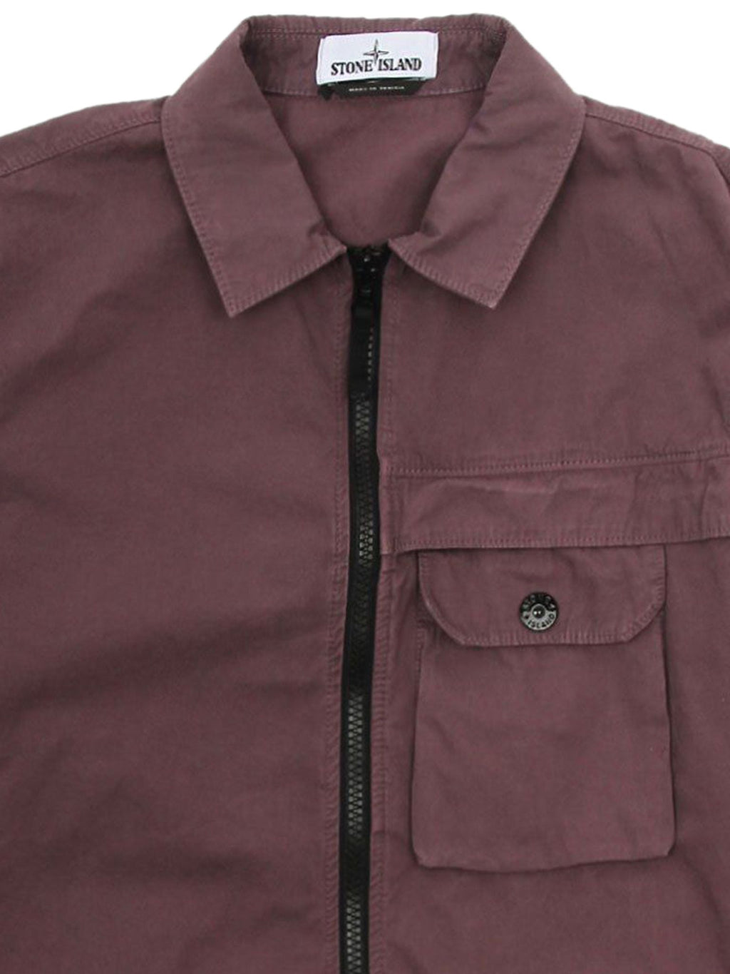 Plum Garment Dyed Overshirt