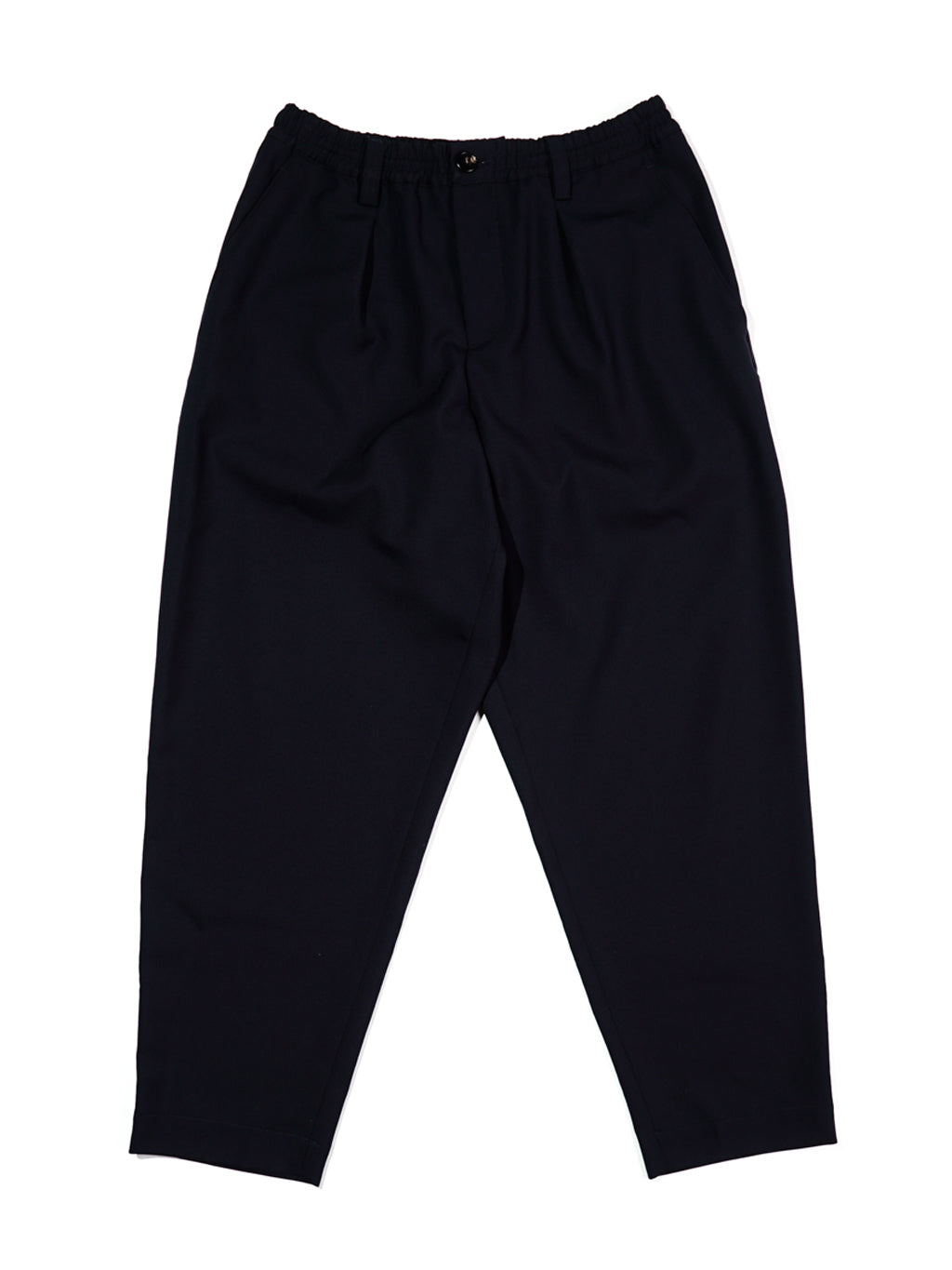 Black Tropical Wool Trousers