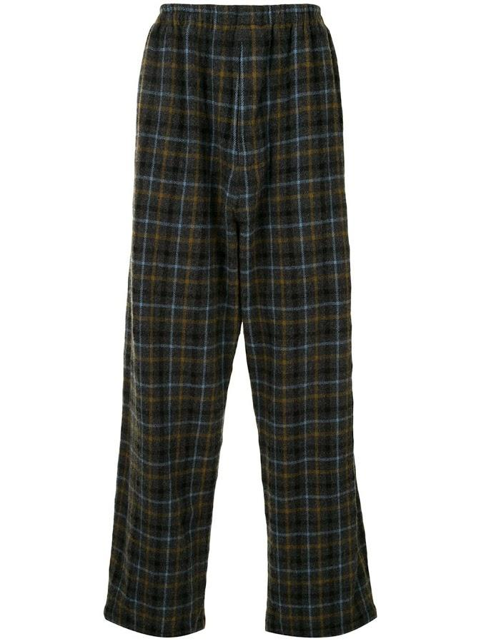 Multi Check Loose Fit Pants