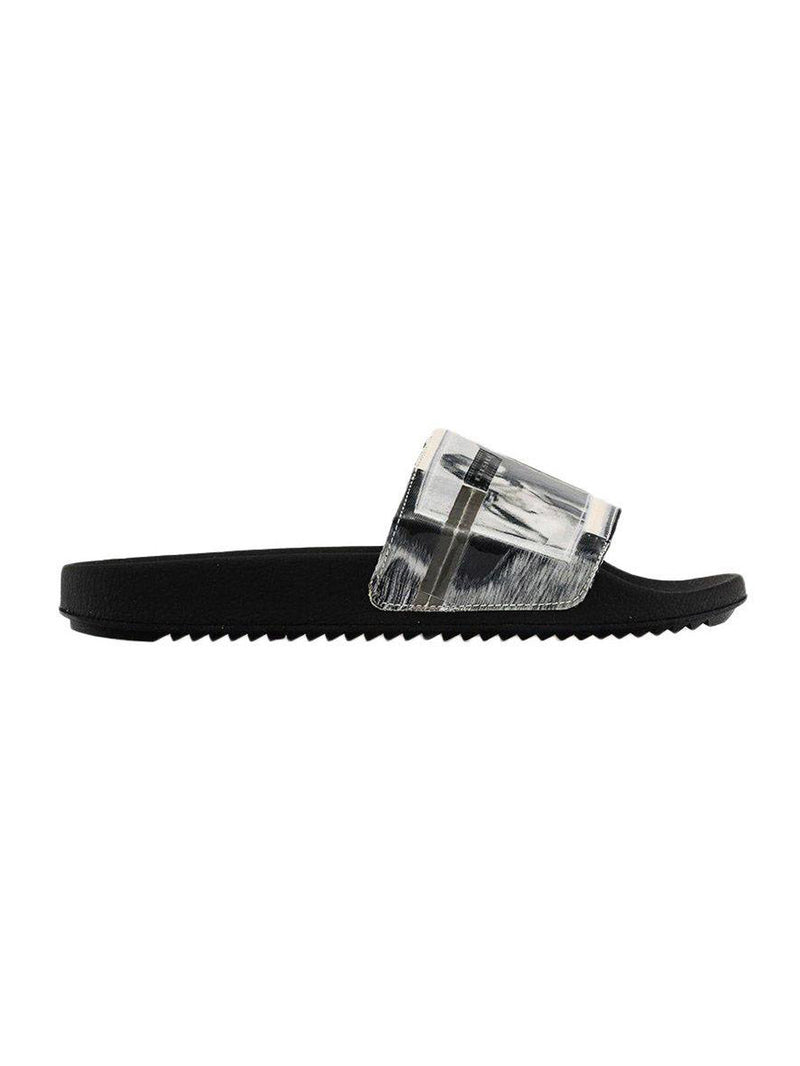 Black & White Scarpe Slide Sandals