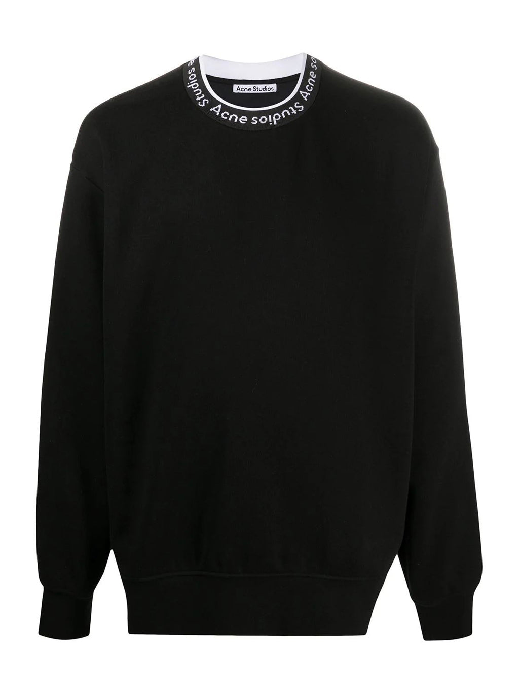 Black Logo Collar Sweatshirt