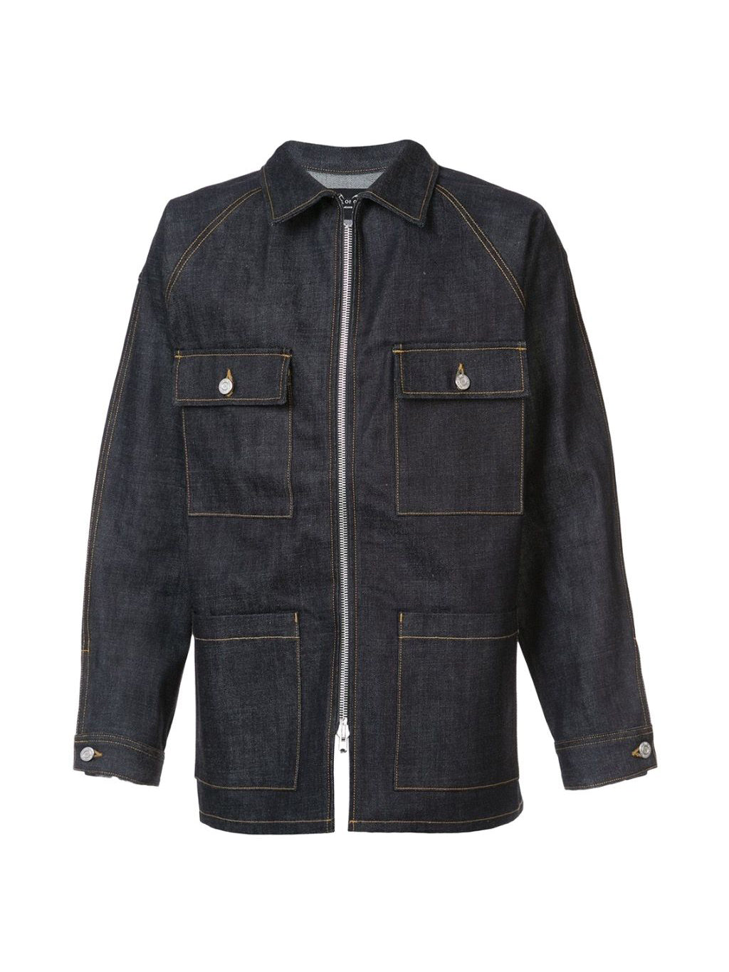 Blue Raw Selvedge Denim Long Jacket