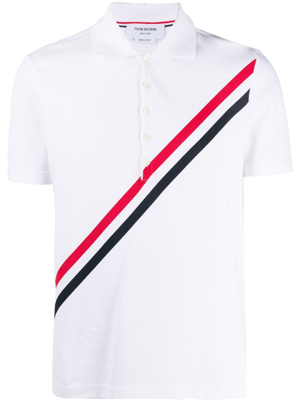 White Printed RWB Stripe T-Shirt