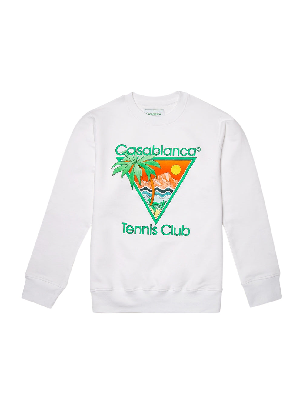White Tennis Club Icon Screen Printed Sweatshirt