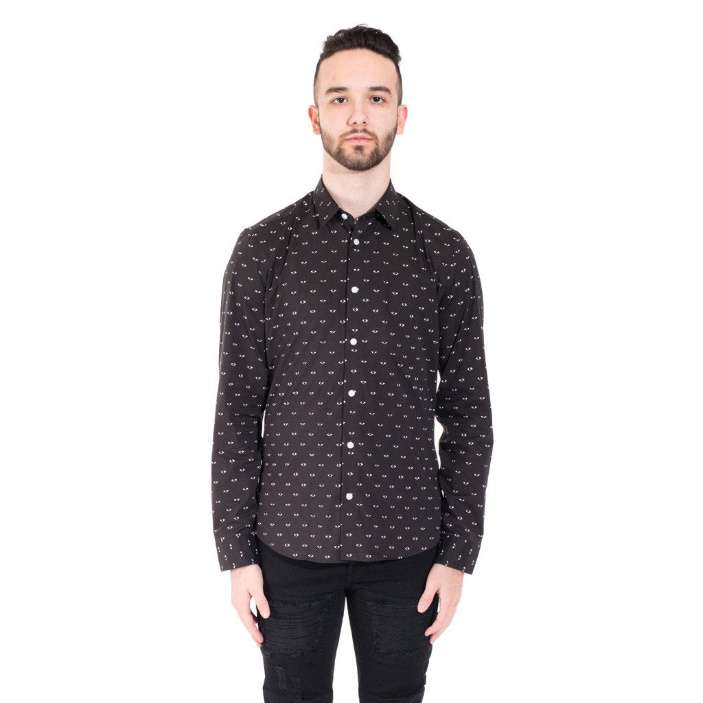Black All Over Eye Cotton Shirt