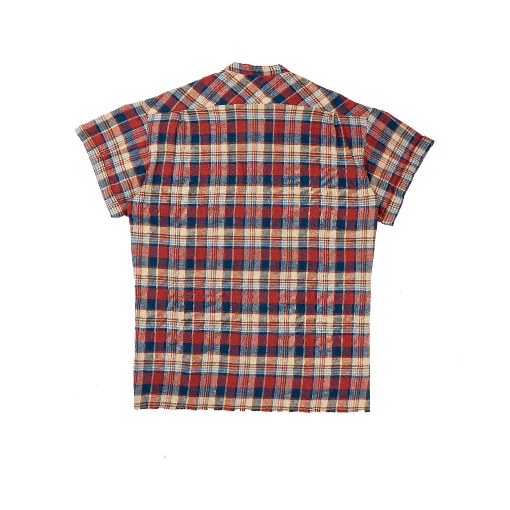 Navy & Red Short Sleeve Classic Studio Shirt