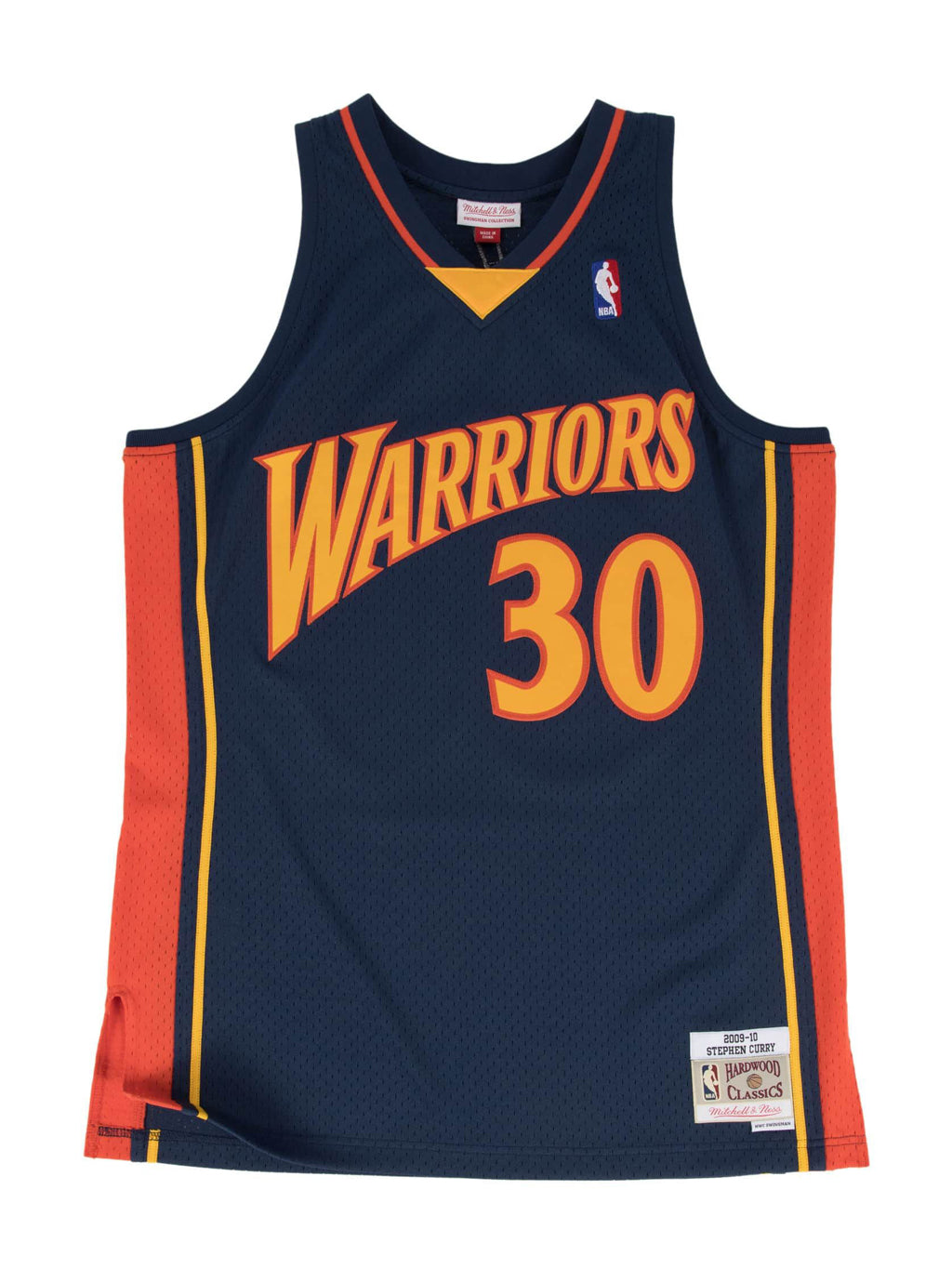 Navy NBA Golden State Warriors Swingman Stephen Curry 2009-10 Jersey
