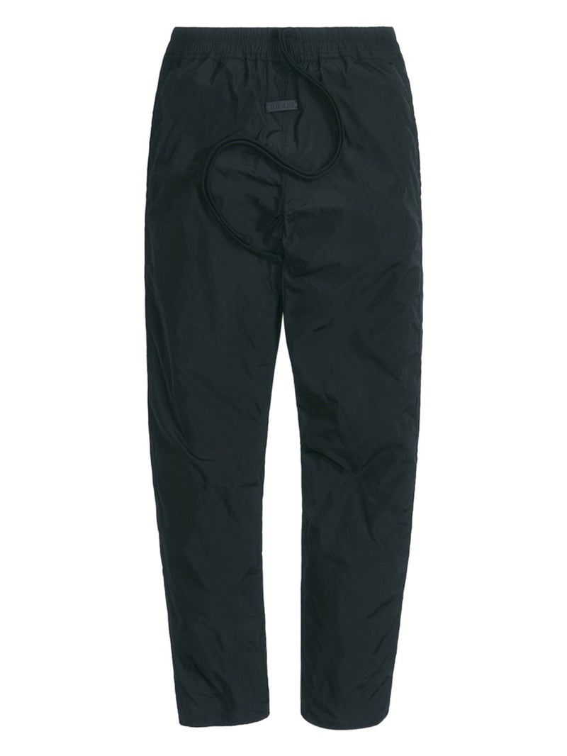 Black Scalloped Hem Track Pant