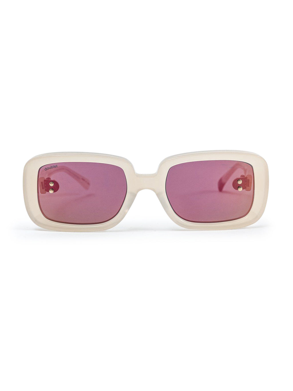 White Square Flame Sunglasses