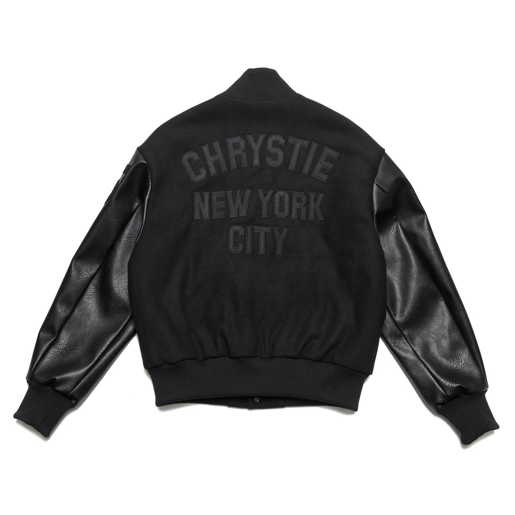 Black Team Chrystie Varsity Jacket