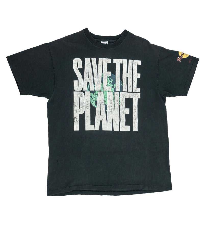 Black 1990s Hard Rock Save The Planet T-Shirt (XL)