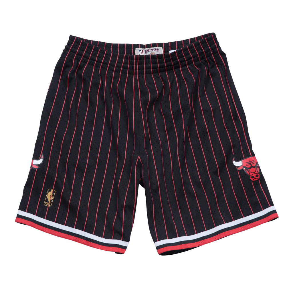 Black Stripe NBA Chicago Bulls Swingman Shorts