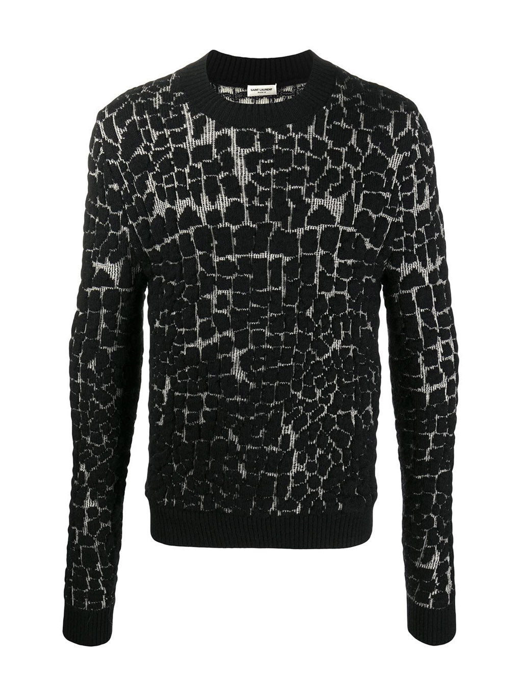 Black Animal Print Pull Over Sweater