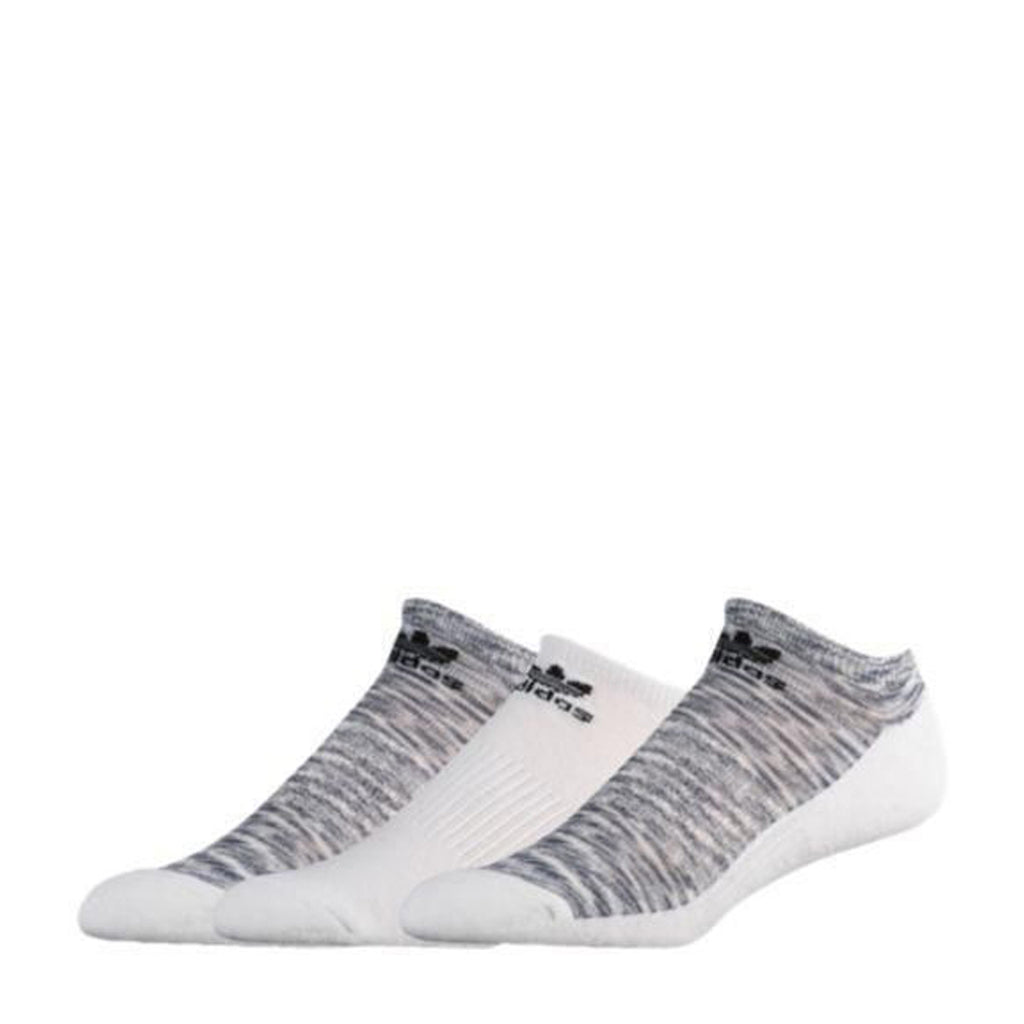 White 3 Pair M Roller Space Dye No Show Socks