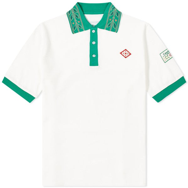 White or Green Laurel Classic Polo T-Shirt