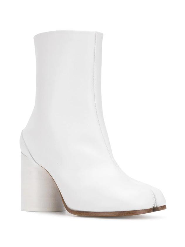 White High Heel Tabi Boots