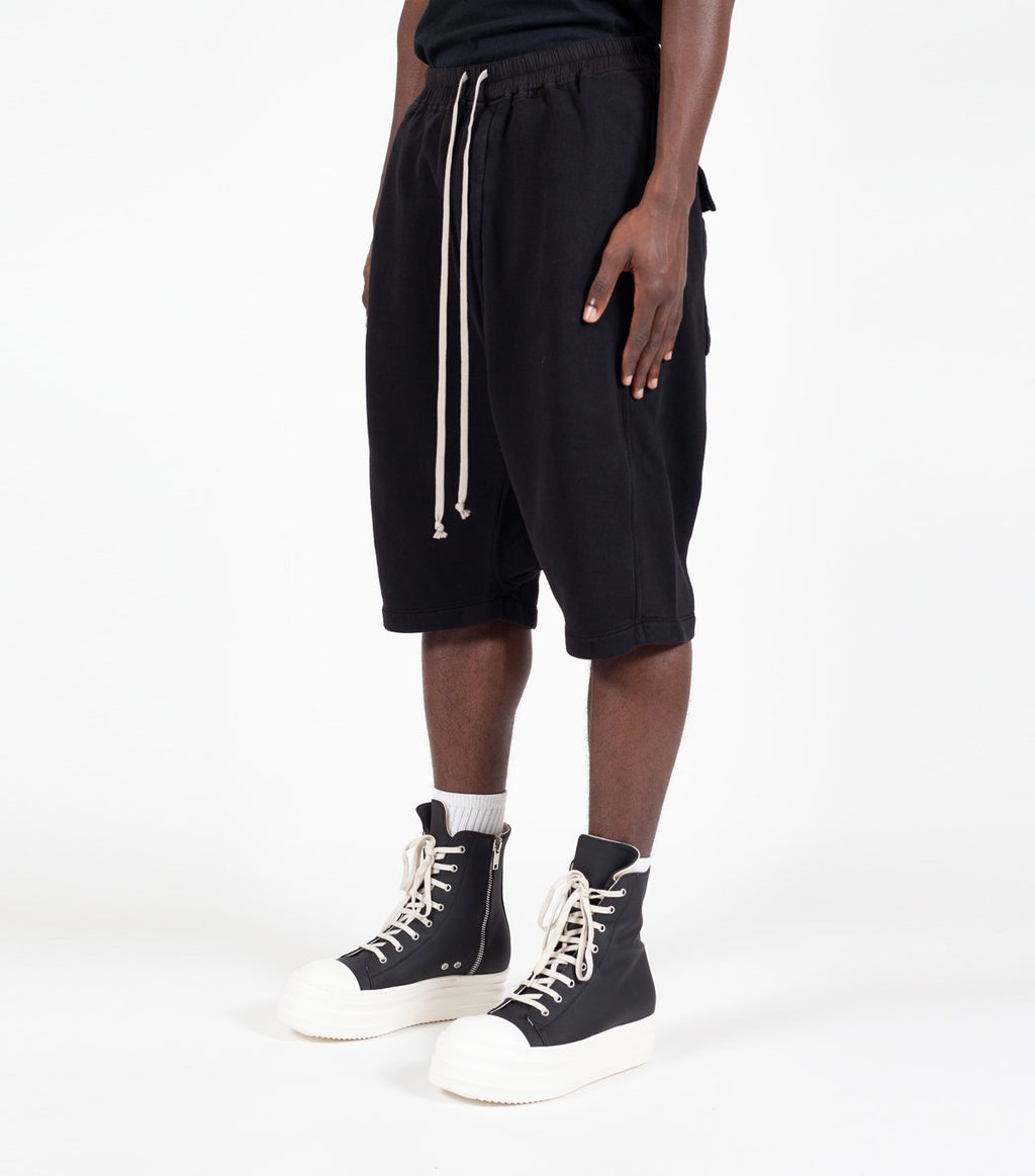 Black Drawstring Pods Felpa Shorts