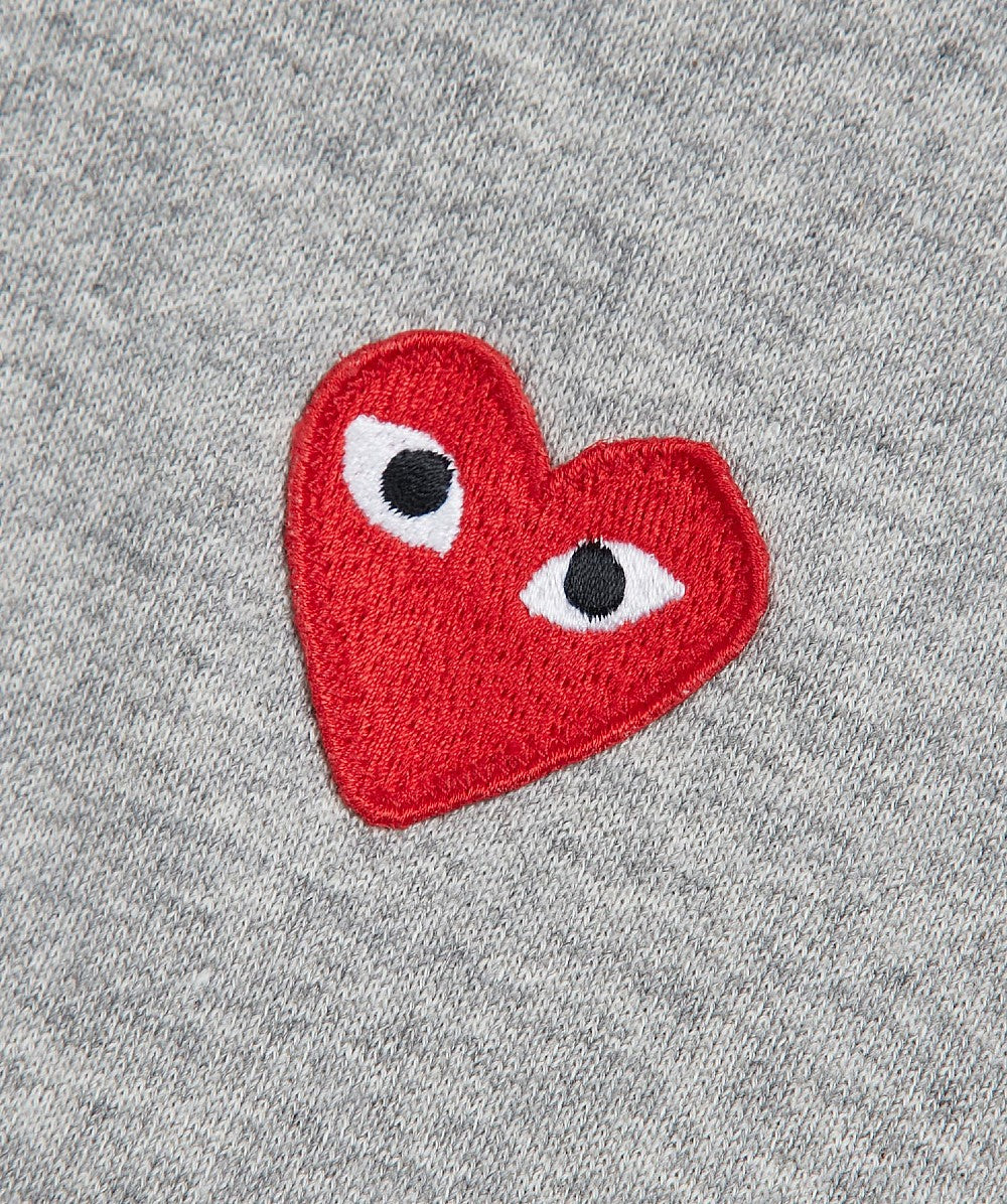 Grey Small Chest Heart Logo Hoodie