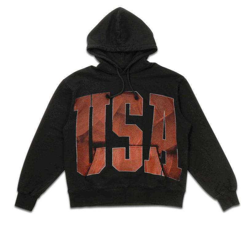 Black USA Hooded Sweatshirt