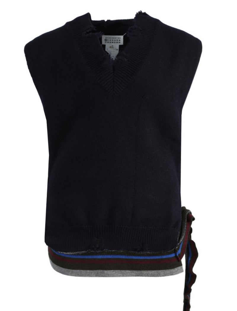 Black Knitted Stole Top