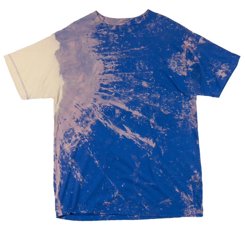 Blue Bleached Cotton T-Shirt