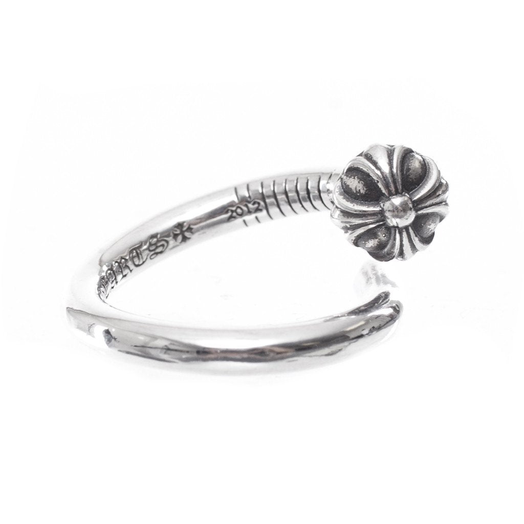 Silver XBall CH Plus Nail Ring