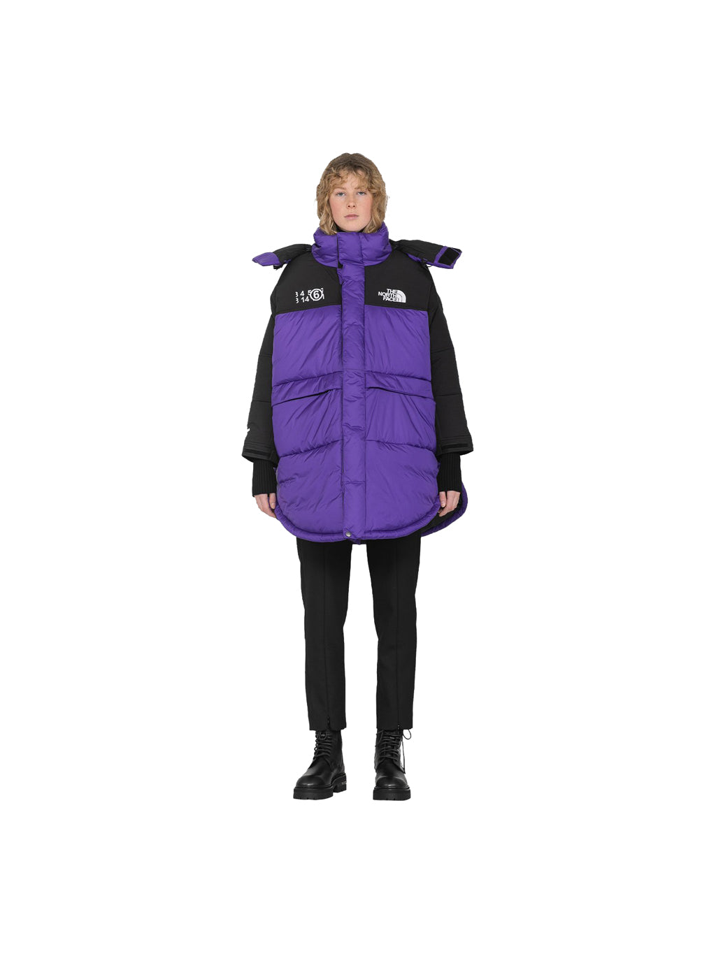 Purple The North Face Down Circle Jacket