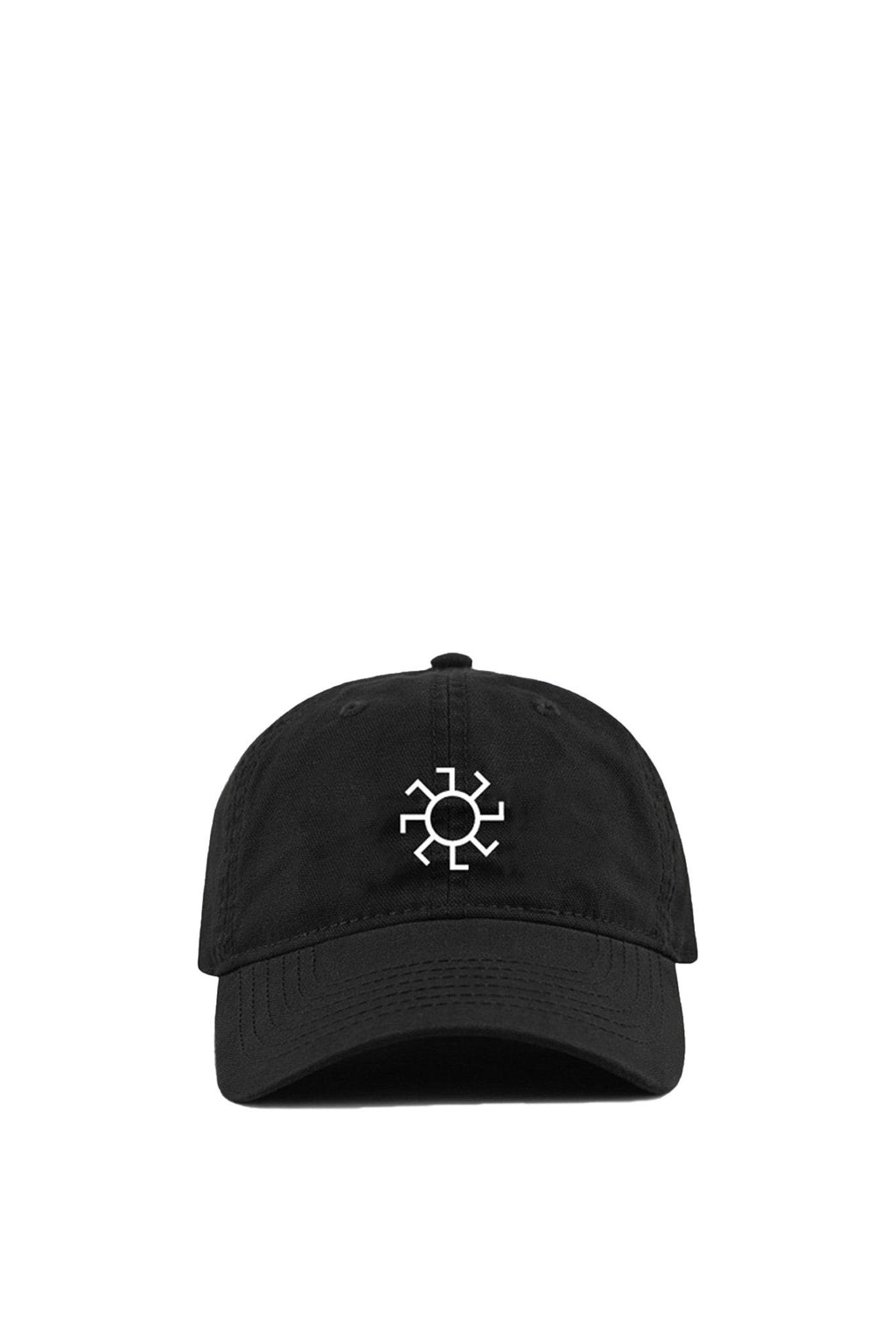 Black & White Sunwheel Embroidered Hat