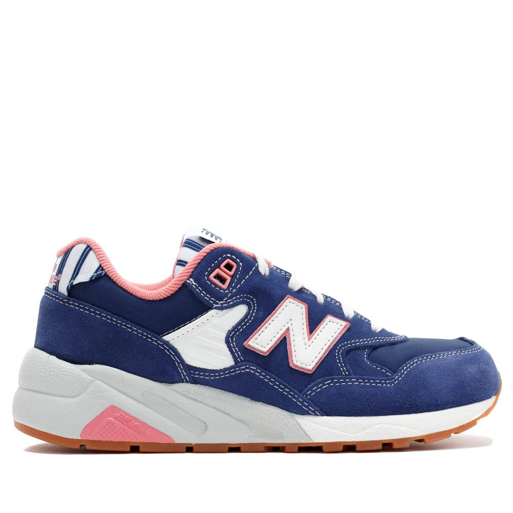 Navy & Pink 580 D Casual Sneakers