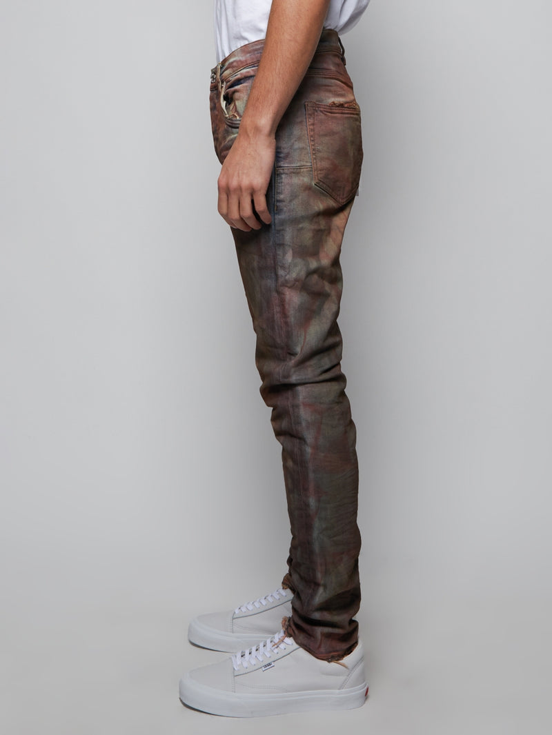 Crimson Indigo Dirty Resin Denim Pants