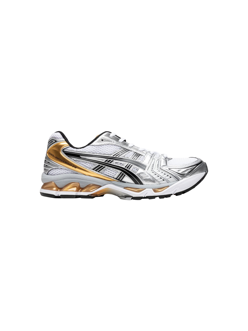 White & Pure Gold Gel-Kayano 14 Shoes