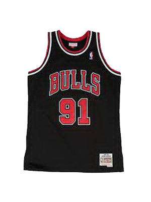 Black NBA Chicago Bulls Dennis Rodman T-shirt
