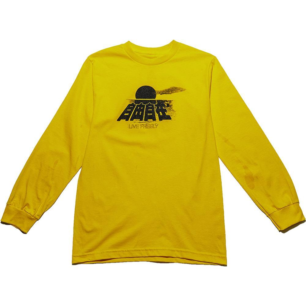 Yellow CNY Live Freely Long Sleeve T-Shirt