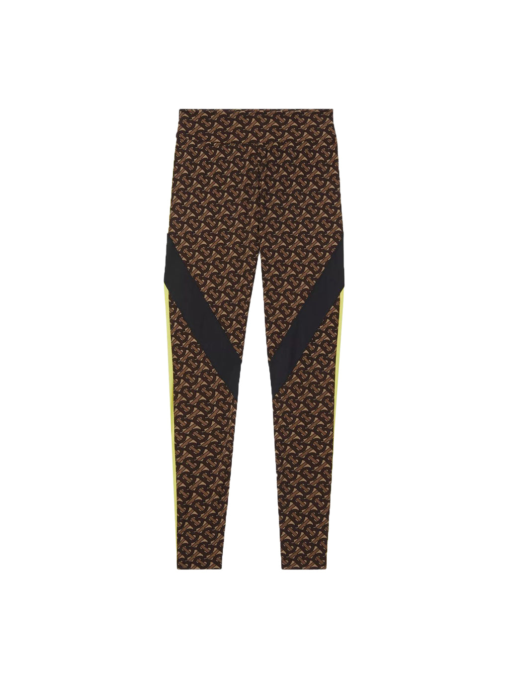 Brown Monogram Print Leggings