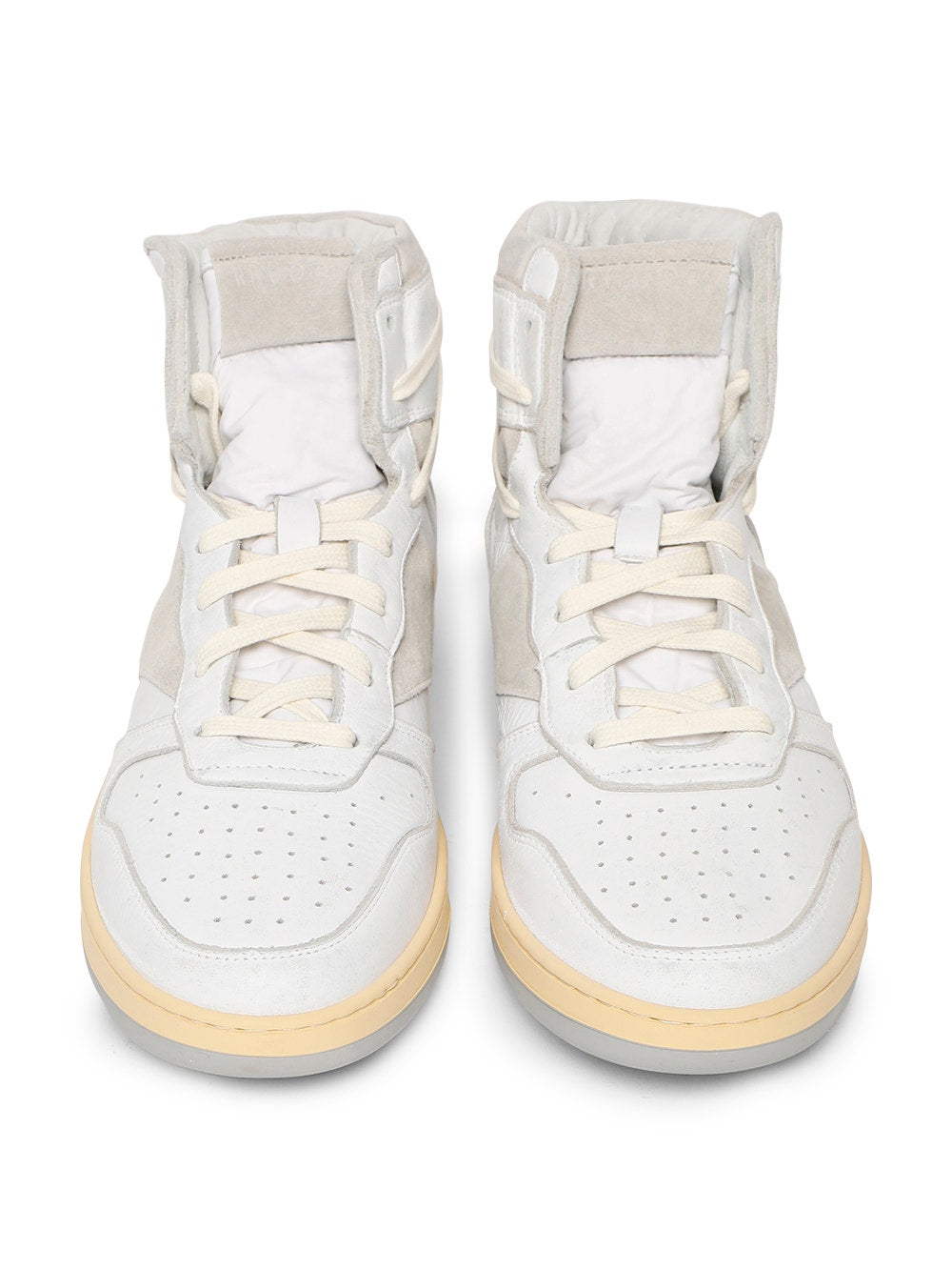 White & Gray Rhecess High Top Sneakers