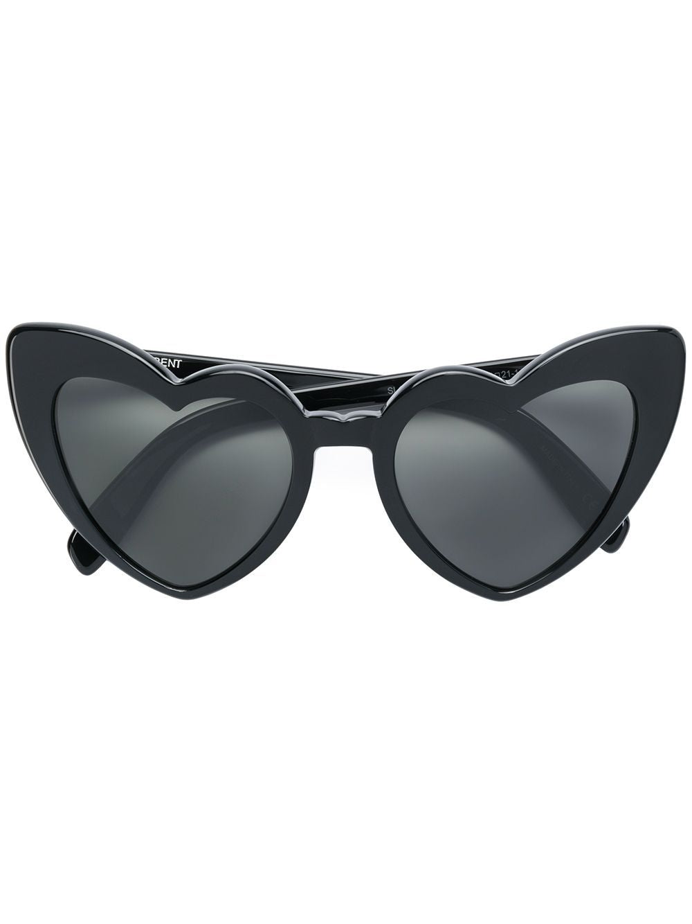 Black LouLou Heart-Shaped Sunglasses