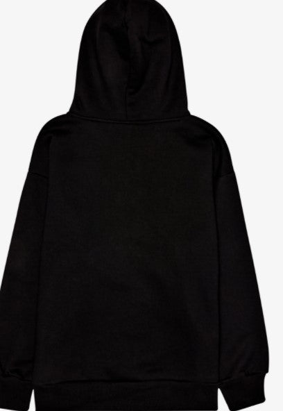 Black Pleasure Wood Studded Hoody