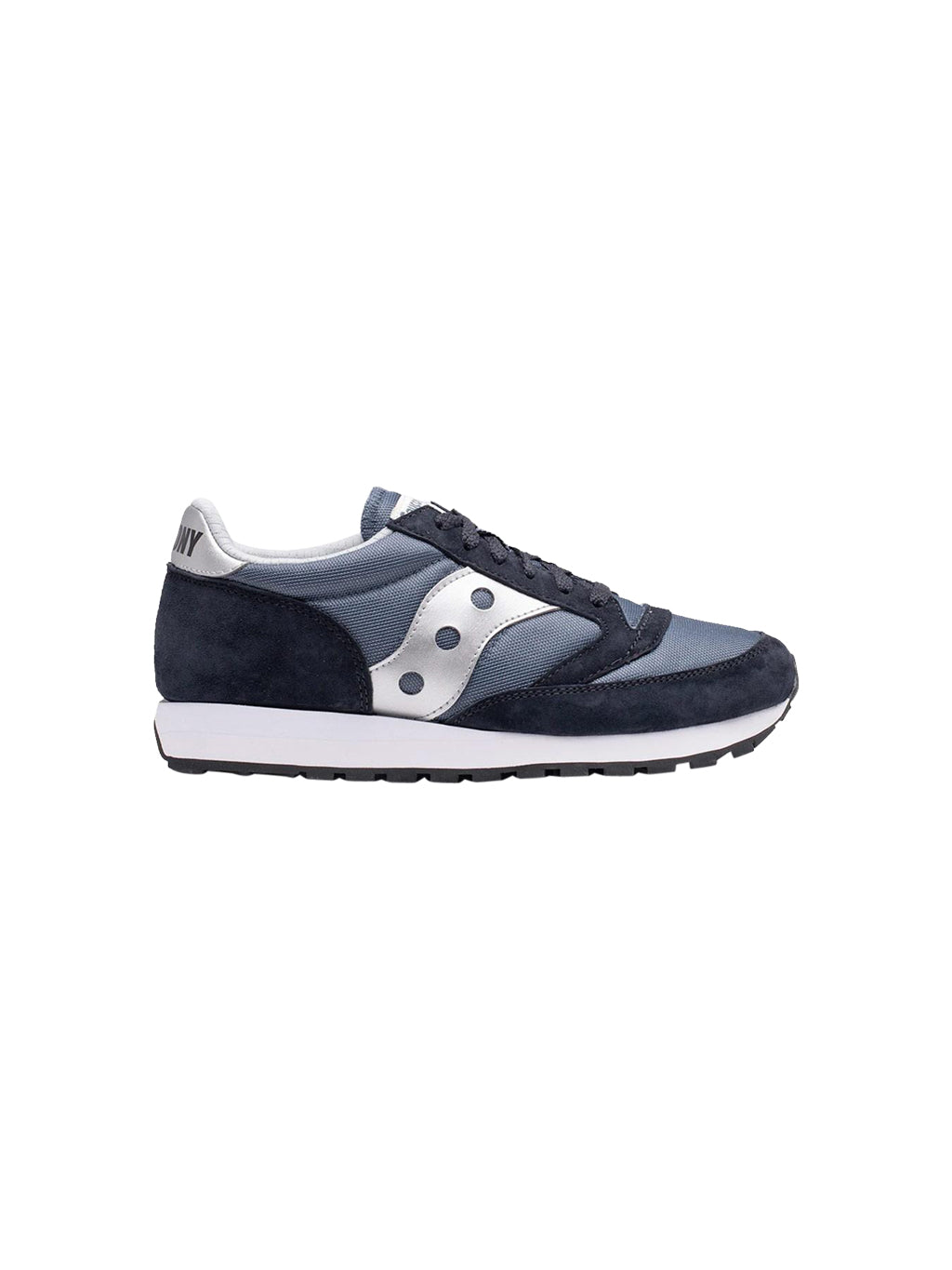 Navy and Silver Jazz 81 Sneakers