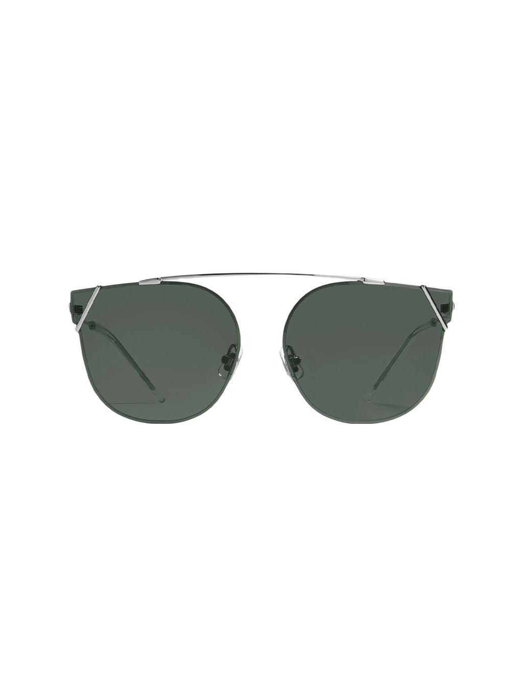 Silver & Dark Green RINGA 02 Sunglasses
